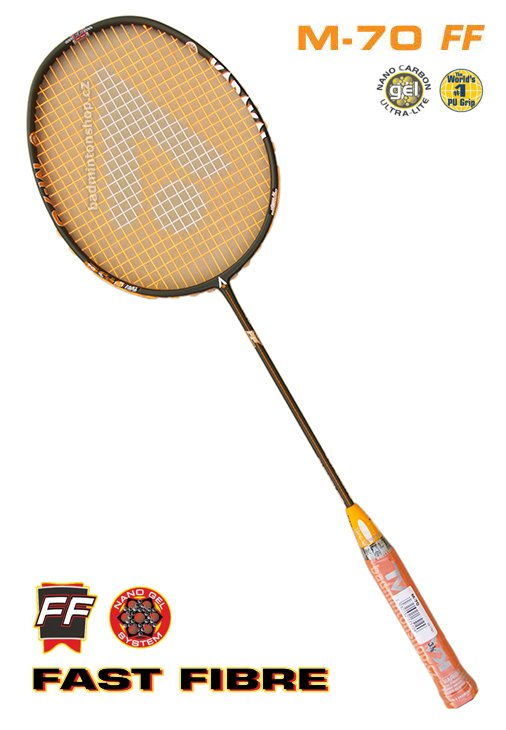 badmintonová raketa KARAKAL M-70 FF BLACK/ORANGE III