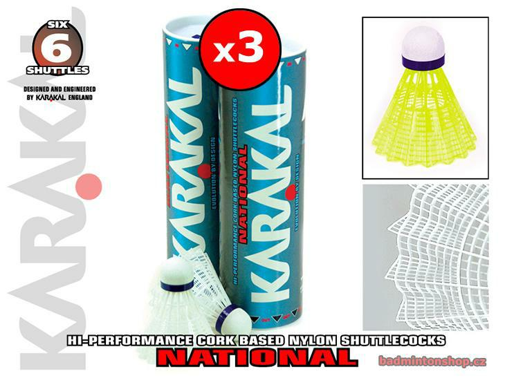 badmintonové míče KARAKAL NATIONAL 3PACK